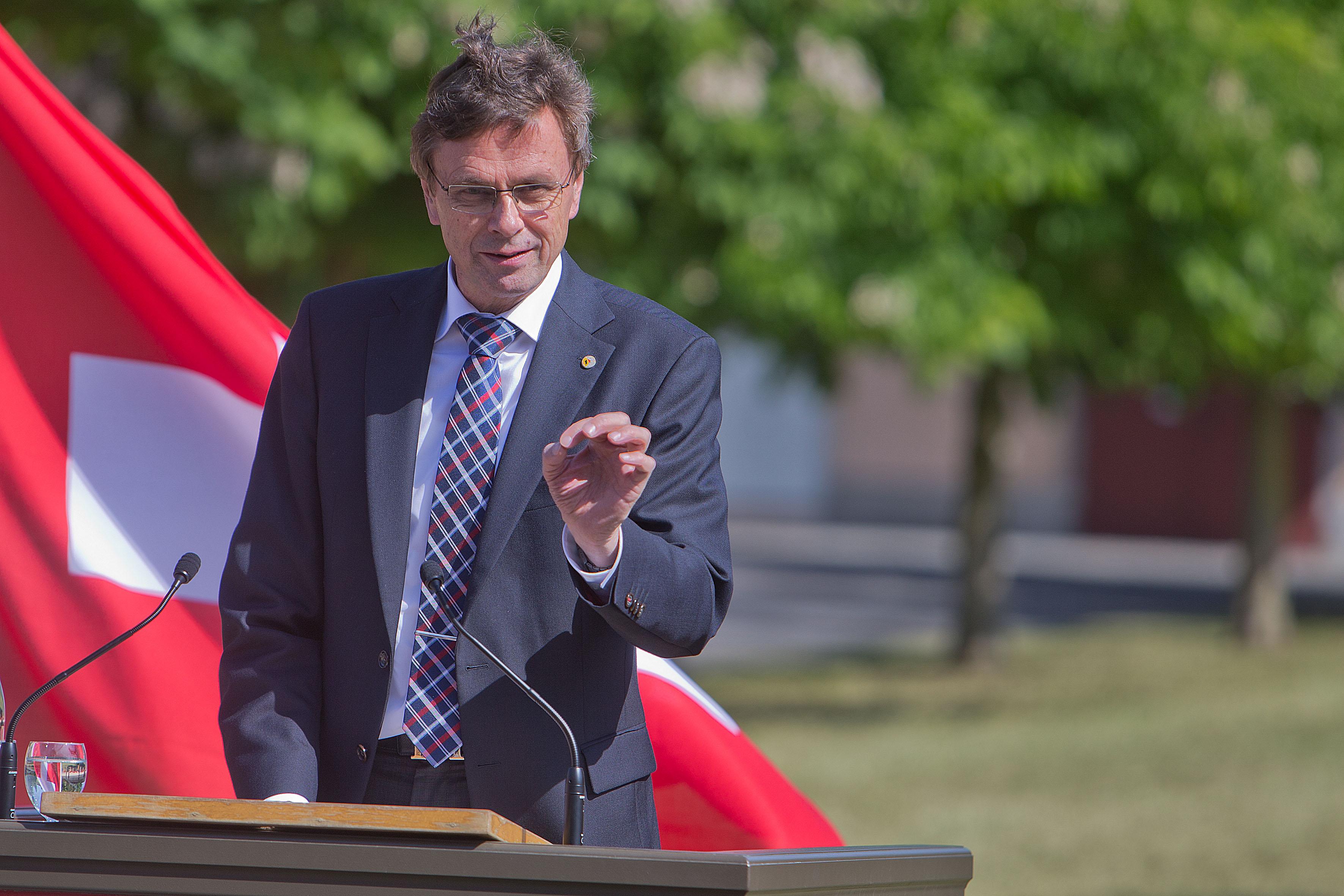 Regierungsrat H.-J. Käser, Regierungspräsident des Kantons Bern