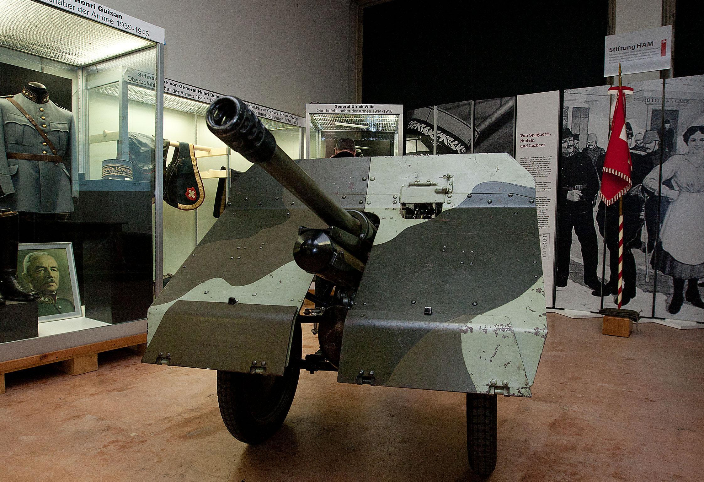 Die 4,7-cm-Infanteriekanone 1935/41 war in den aufgezeigten Sperren eine der meistvertretene Panzerabwehrwaffen.