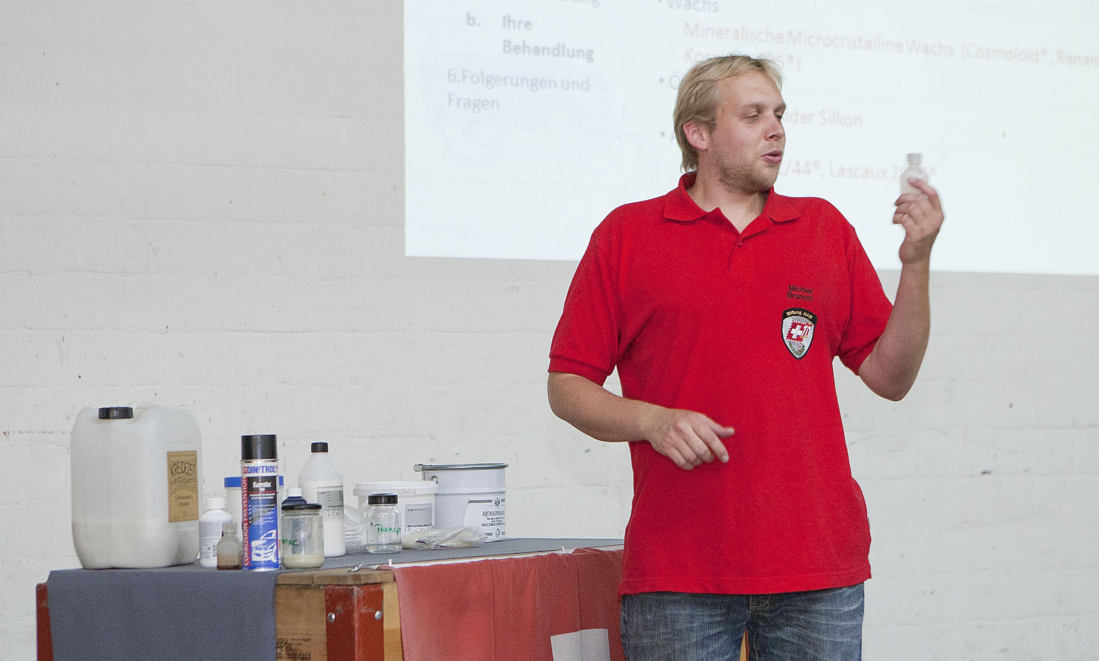 Michiel Brunott, Konservator-Restaurator bei der Stiftung HAM in Burgdorf.