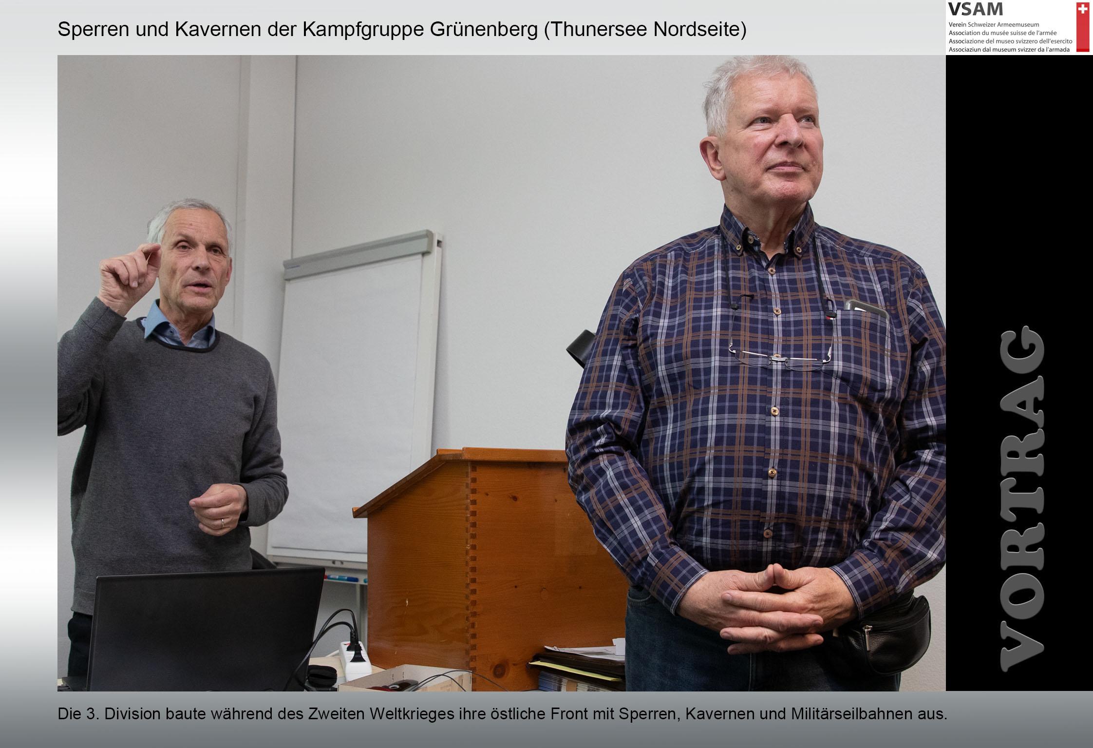 Sperren und Kavernen der Kampfgruppe Grünenberg (Thunersee Nord