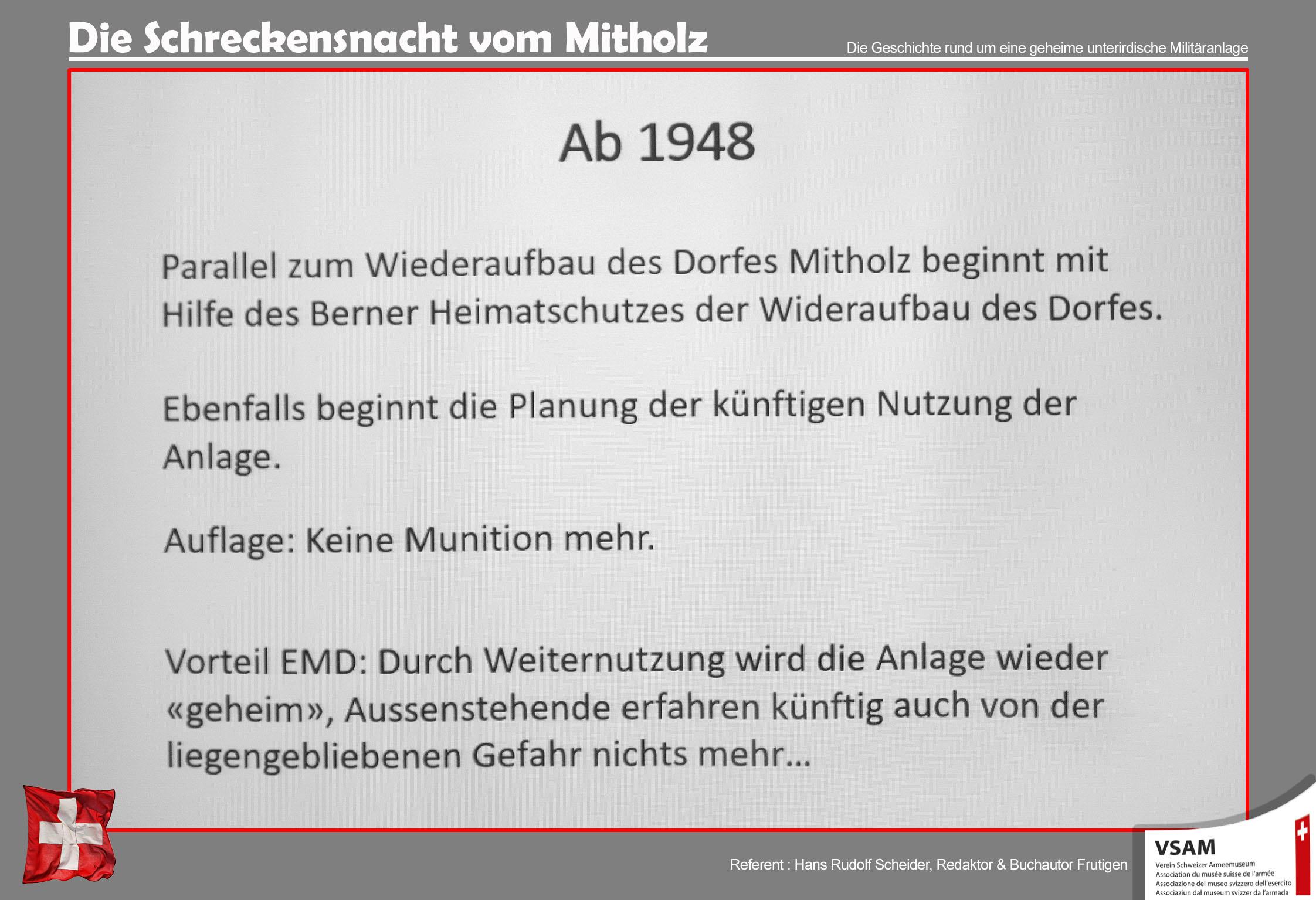 Was hat die Armee in Mitholz gemacht?