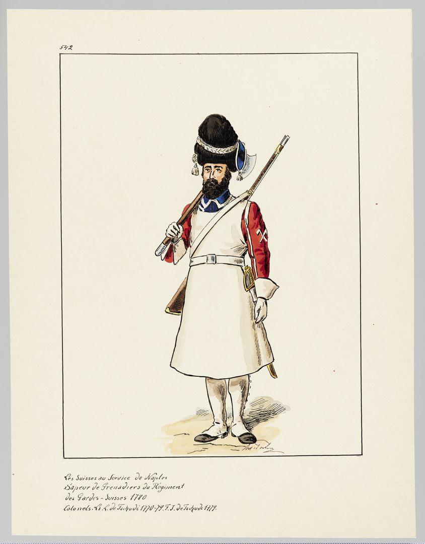 1780 Schweizer Garde GS-POCHON-652