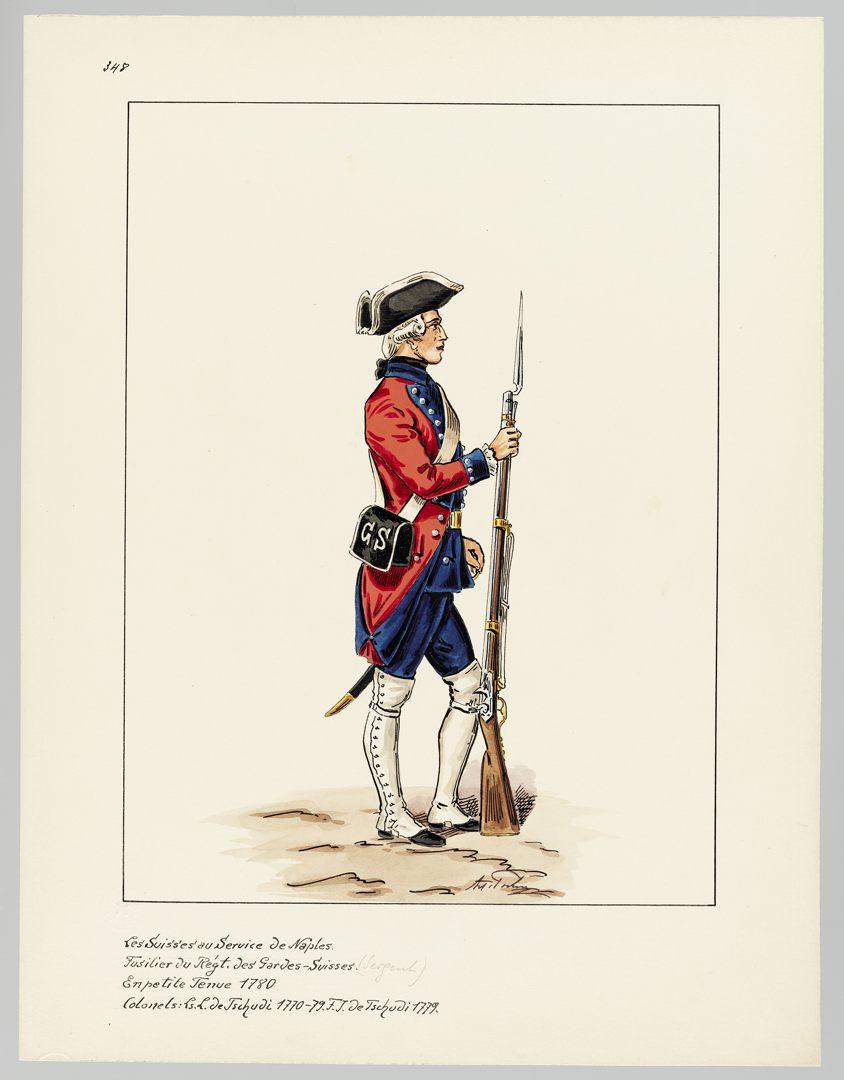 1780 Schweizer Garde GS-POCHON-656